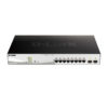 D-Link, 8-Port Gigabit Smart Managed PoE Switch with 2x Gigabit SFP ports, 130W PoE Budget, DGS-1210-10MP