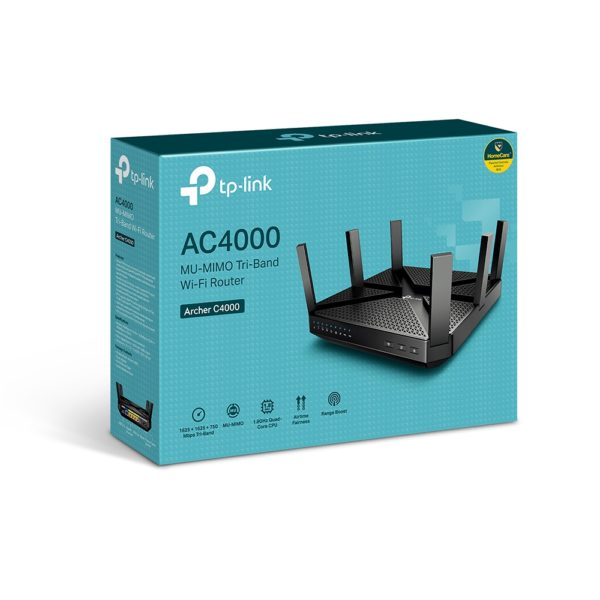 TP-Link AC4000 MU-MIMO Tri-Band Wi-Fi Router Archer C4000