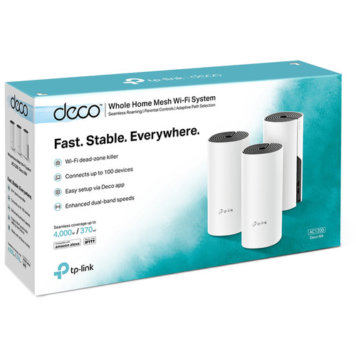 TP-Link AC1200 Whole Home Mesh Wi-Fi System Deco M4(3-pack)