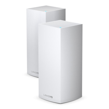 Offering exceptional speed, coverage, and capacity, the Linksys MX10600 Velop Whole Home Mesh WiFi 6 (AX) System is the next generation of WiFi. This Mesh WiFi system combines Velop's Intelligent Mesh technology with WiFi 6 to deliver true gigabit WiFi speeds, up to 5.3 Gbps to every corner of your home, including outdoor areas. Capable of sending and receiving multiple streams of data simultaneously, WiFi 6 (AX) has four times the capacity of WiFi 5 (AC) technology. The Velop WiFi 6 Tri-Band series can handle 50+ devices, so laptops, televisions, smart-home systems, and more can all operate simultaneously with ease. Featuring BSS technology, this Mesh WiFi system minimises congestion by eliminating interference from nearby wireless networks in order to deliver a strong, clear wireless signal to your home. The MX10600 is part of Velop's modular system, which means increasing your coverage is as simple as adding another node. And with the Linksys App, setting up your system is fast and easy, so you can enjoy the next evolution of WiFi in a matter of minutes.